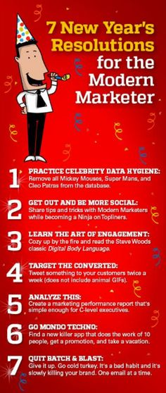 7 New Year's Resolutions for the Modern Marketer - 2014