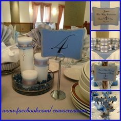 first communion centerpieces ideas for tables | 1st Communion decorations...favor wrapping, centerpieces, table ...