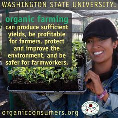Many farmers and consumers have experienced first hand how organic farming can improve their health, the health of the planet and provide many economic benefits. But for those who need to see scientific studies and reports, there are more and more resources available. Check out this study from Washington State University! #Ag #Food #Organic #Health