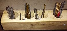 The 15 Min. Drill Bit Storage Rack  --  For convenient drill bit storage and easy to see stock levels.  I use a lot of drill bits and got fed up with rooting about in boxes to find ones I needed, so I decided to mount them on the wall in this simple storage unit.