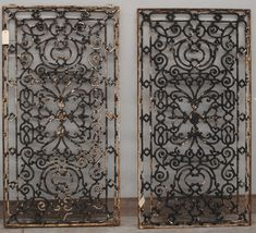 Pair Antique French wrought iron panels for wall art and to bring some charm into a room