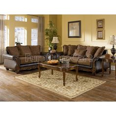 Shop Wilmington - Walnut Living Room Set with great price, The Classy Home Furniture has the best selection of to choose from Sofa Design, Interior Design, Interior Paint, Room Interior, Interior Ideas, Furniture Sets, Home Furniture, Modern Furniture, Rustic Furniture