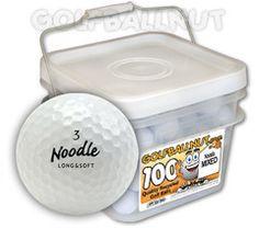 #Maxfli #Noodle Golf Balls 100 Bucket - Mint