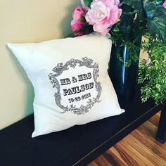 Pillow {Personalizable} For bride and groom or baby!