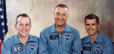 Apollo 1~Crew died on January 27, 1967 when a fire swept through the Apollo 1 capsule during a pre-launch test at the Kennedy Space Center, Florida.