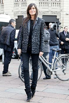textured black~ Emmanuelle Alt