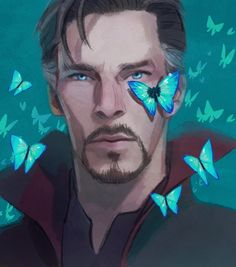 """You're full of tricks, wizard."" #doctorstrange by Hallpen (hallpen.deviantart.com) #hallpen"