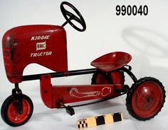 1953 Kiddie Tractor tricycle, played on one of these when at my Aunt Annie's dairy when I was 4 yrs. old