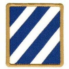 US 3rd Infantry Division embroidery design. My last unit when I got out of the Army
