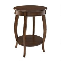 One of my favorite discoveries at ChristmasTreeShops.com: Dark Hazelnut Bentwood Skirt Accent Table