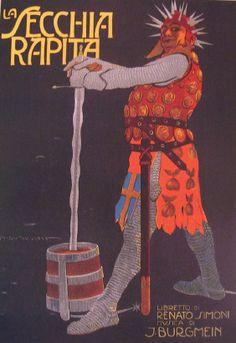Anno: 1911 Soggetto: La Secchia rapita. Opera comica in tre atti. Stampa Ricordi , Miilano. Provenienza: Raccolta Salce, Museo Bailo, Treviso