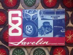 Original 1968 Javelin Owner's Manual | eBay Motors, Parts & Accessories, Manuals & Literature | eBay!