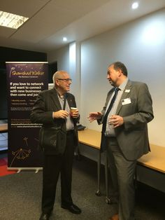 Justin and Derek enjoying Networking @ Pure Offices