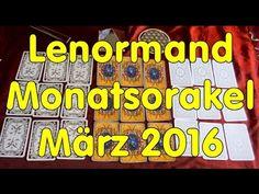 Lenormand-Monatsorakel März 2016 zum Mitlernen und Üben