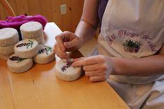 All Things Herbal Blog: Lavender Handfelted Soaps. (Dry needle felt design work on felted soaps.) www.AllThingsHerbal.com