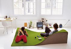 I wish it was affordable! #home #carpet #green