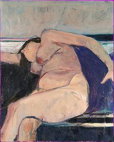 Richard Diebenkorn (1922–1993) Reclining Nude - Pink Stripe, 1962