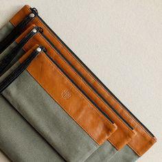 Pochette embrayage kit de Dopp housse de voyage par HANDWERS