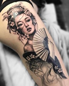 Japanese Tattoo Symbols, Japanese Tattoo Art, Japanese Tattoo Designs, Japanese Sleeve Tattoos, Japanese Tattoo Women, Japanese Art, Japanese Geisha, Geisha Tattoo Design, Geisha Tattoos