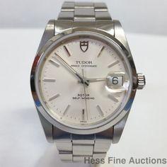 Mint Vintage Rolex Tudor Prince Oysterdate Steel Quickset 74000 Watch #Rolex #Sport