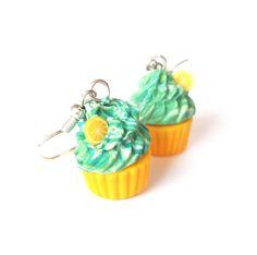 Cupcake oorbellen van Fimo klei!