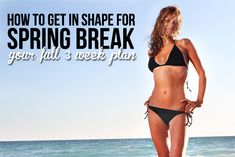Start getting in shape for Spring Break with this 3 week plan!