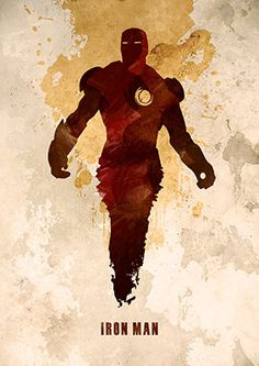 Superhero Iron Man Watercolor Poster Retro Poster by TopPoster Iron Man Kunst, Iron Man Art, Marvel Dc, Marvel Heroes, Retro Poster, Vintage Posters, Hulk, Thor, Die Rächer