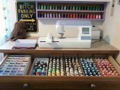 New Craft Room Organization Desk Sewing Machines Ideas