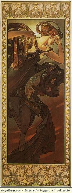 Alphonse Mucha. Evening Star.