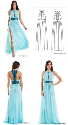 An interesting back beautiful dress (pattern)...♥ Deniz ♥