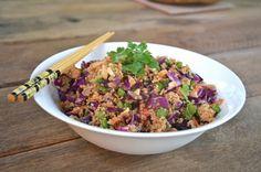 Stuff We Ate: Thai Cashew Quinoa Salad with Ginger Peanut Dressing