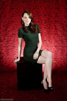 Emma Stone. How about them legs.