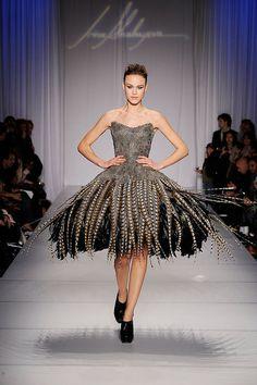 Irina Shabayeva Pheasant Feather Dress