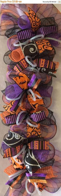Your place to buy and sell all things handmade Halloween School Treats, Halloween 2014, Holidays Halloween, Halloween Party, Halloween Costumes, Halloween Stuff, Whimsical Halloween, Halloween Garland, Halloween Decorations