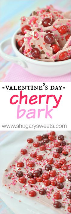 Easy, delicious Cherry Bark candy recipe, perfect for Valentine's day!