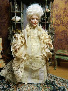 OOAK Dollhouse 5.5 inch poseable Miniature Doll by LoreleiBlu, $100.00