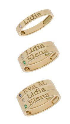 Nuevos anillos de oro 18K para que los personalices a tu gusto. #joyas #oro #tendencia #joyaspersonalizadas #trendy #moda #accesorios #fashion #anillos Money Clip, Wallet, Fashion, Diamonds, Silver Rings, Accessories, Pocket Wallet, Moda, La Mode