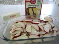 Apple Cobbler Cake (recipe in comments)