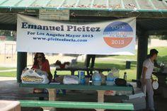 Banner, Los Angeles Mayoral candidate, Emanuel Pleitez, www.pleitezforla.com