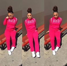Follow: @Tropic_M for more ❄️ Cute Swag Outfits, Chill Outfits, Pink Outfits, Dope Outfits, Trendy Outfits, Black Girl Fashion, Teen Fashion, Fashion Outfits, Winter Outfits For Teen Girls