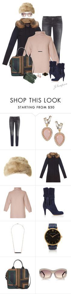 """""""'Cold and Windy Day'"""" by shadedlady ❤ liked on Polyvore featuring mode, R13, Lydell NYC, Ted Baker, Woolrich John Rich & Bros, MaxMara, Chloé, Kristin Hanson, Larsson & Jennings en Tory Burch"""