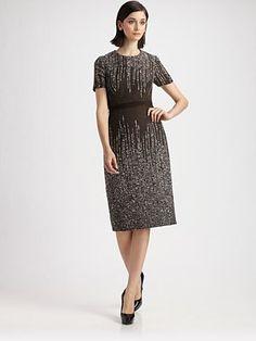 Degrade Jacquard Dress, Carolina Herrera, Saksfifthavenue.com, $1990