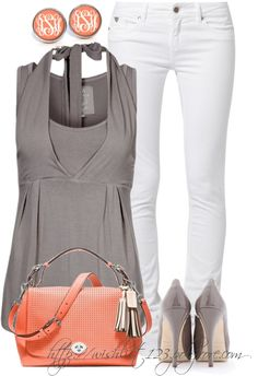 """White Pants"" by wishlist123 ❤ liked on Polyvore"