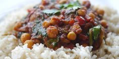 Make Victoria Glass' spinach and chickpea curry recipe for a healthy and delicious dinner, showing that you don't need a lot of fat and salt to make a tasty meal.