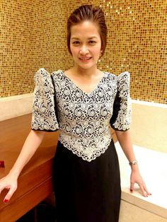 Filipiniana dress Philippines Dress, Modern Filipiniana Dress, Barong Tagalog, Wedding Reception Outfit, Nice Dresses, Girls Dresses, Maria Clara, Fashion Gallery, Urban Outfits