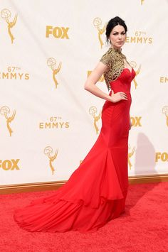 Laura Prepon on the Emmys red carpet