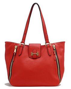 a90690869f41 Tosca Zippered Tote Handbag (Red) Tosca http   www.amazon.