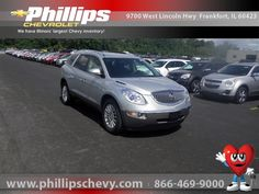 2010 Buick Enclave, Silver Ice, 16130665 This beauty is Internet Priced at $24,777 with just under 50,000 miles on this great vehicle.   http://www.phillipschevy.com/2010-Buick-Enclave-CX-Chicago-IL/vd/16130665