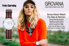 Probably one of the most affordable Swiss Made Watch fashion Watch for Men and Women, trendy, truly charming and, Swiss Made by Grovana Watch Co. LTD. Swiss Watch makers since 1924 and a company, regi