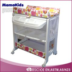 Beau Plastic Baby Changing Table Standing Baby Bath Tub With Handy Storage Bag